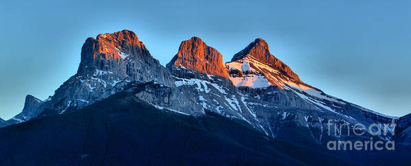 Photograph - 3 Sisters Sunset Glow by Adam Jewell