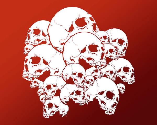Wall Art - Digital Art - Skull by Mery Moon