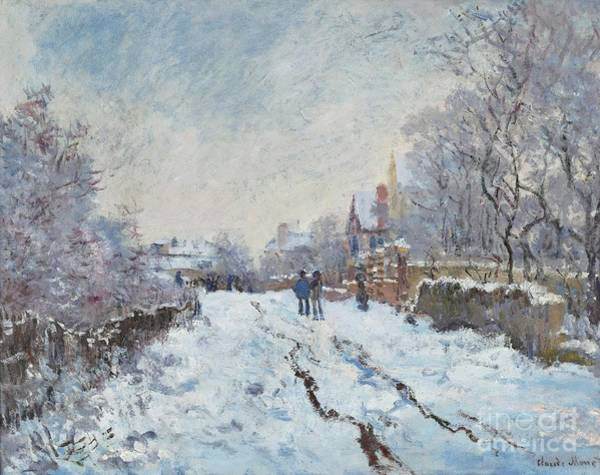 Painting - Snow Scene At Argenteuil by Claude Monet