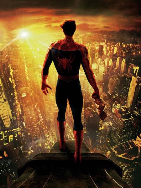 Tobey Digital Art - Spider-man 2002 by Geek N Rock