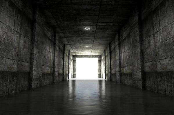 Destiny Digital Art - Sports Stadium Tunnel by Allan Swart