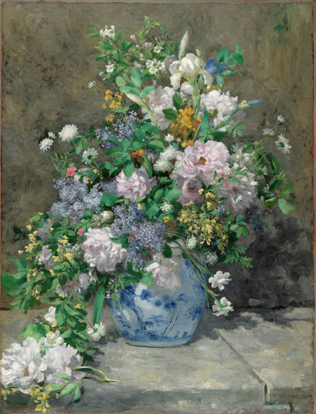 Carnation Painting - Spring Bouquet by Pierre-Auguste Renoir