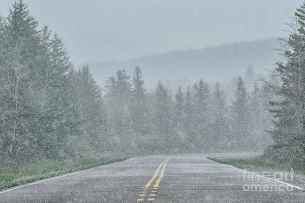 Photograph - Spring Snow Highland Scenic Highway by Thomas R Fletcher
