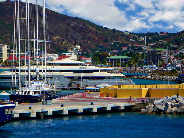 Photograph - St. Thomas Harbor by Anthony Dezenzio