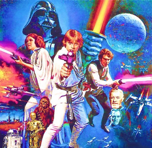Star Wars Episode 3 Wall Art - Digital Art - Star Wars Episode 6 Poster by Larry Jones