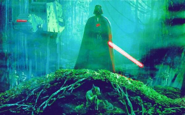 Star Wars Episode 3 Wall Art - Digital Art - Star Wars On Art by Larry Jones