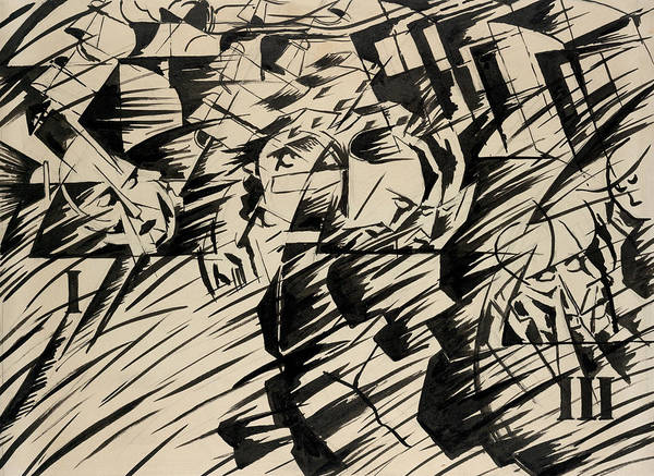 Drawing - States Of Mind - Those Who Go by Umberto Boccioni