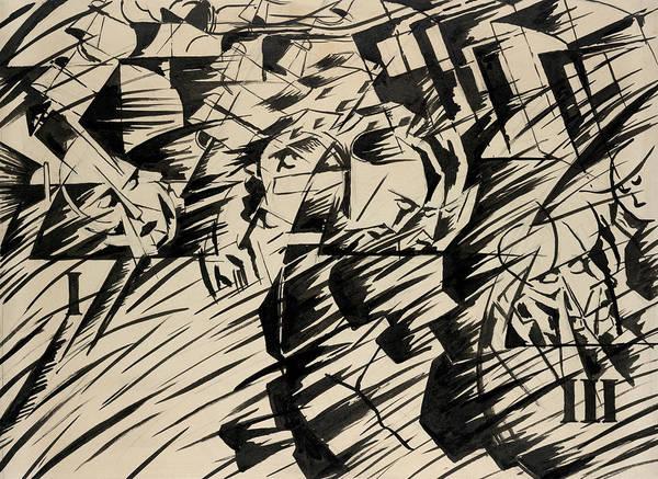Boccioni Wall Art - Drawing - States Of Mind - Those Who Go by Umberto Boccioni