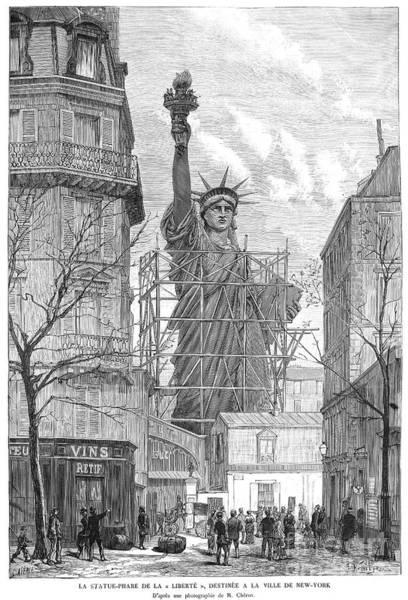 Wall Art - Photograph - Statue Of Liberty, 1884 by Granger