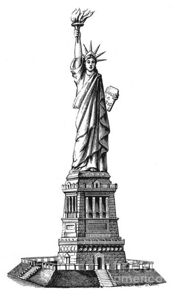 Photograph - Statue Of Liberty by Granger