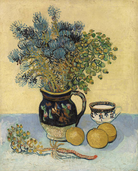 Yellow Ribbon Painting - Still Life by Vincent van Gogh