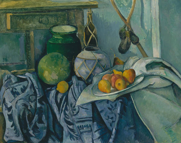 Painting - Still Life With A Ginger Jar And Eggplants by Paul Cezanne