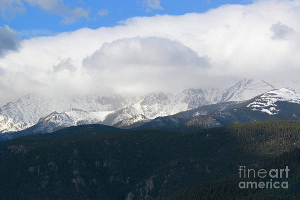 Photograph - Sunset Storm Clouds On Pikes Peak Colorado by Steve Krull