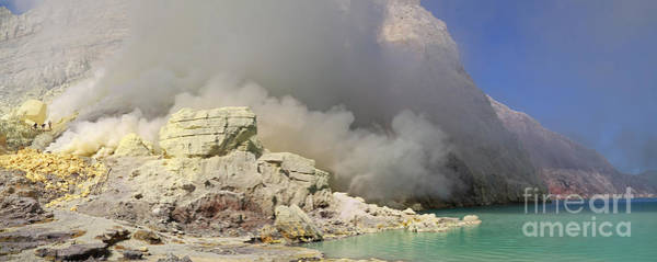 Photograph - Sulphur Mine At Kawah Ijen by Warren Photographic