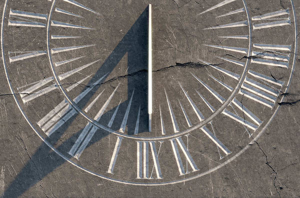 Ancient Architecture Digital Art - Sundial On Stone by Allan Swart