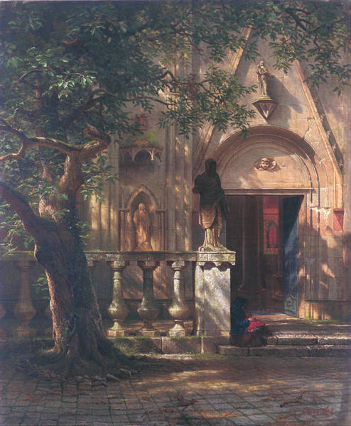 Painting - Sunlight And Shadow by Albert Bierstadt