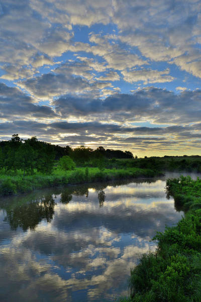 Photograph - Sunrise Clouds Reflected In Nippersink Creek by Ray Mathis