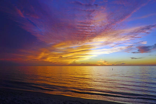 Wall Art - Photograph - Sunset At Delnor Wiggins Pass State Park In Naples, Fl by Robb Stan