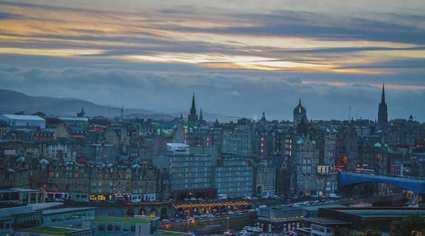 Photograph - Sunset Over Edinburgh by Edyta K Photography