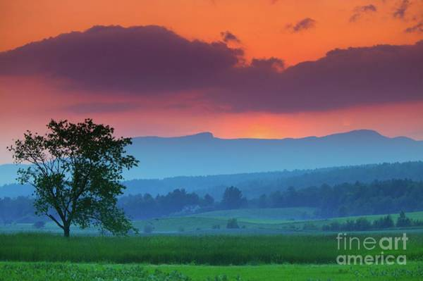 Wall Art - Photograph - Sunset Over Mt. Mansfield In Stowe Vermont Hd by Don Landwehrle