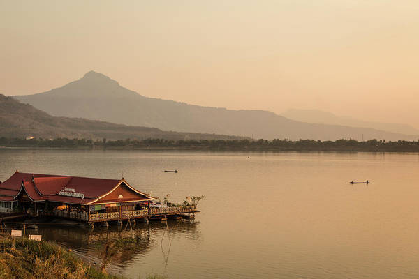 Photograph - Sunset Over The Mekong In Laos by Didier Marti