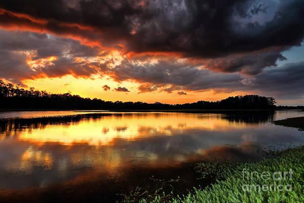 Sunset Reflections Art Print by Rick Mann