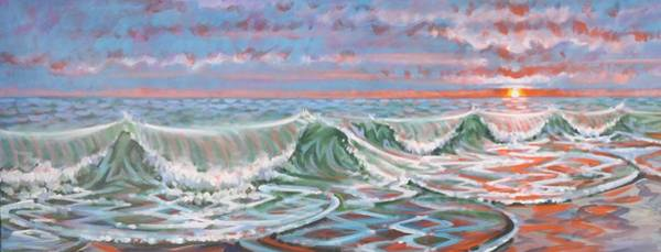 Painting - Sunset Surf by Gary M Long