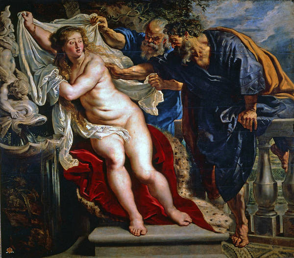 Painting - Susanna And The Elders by Peter Paul Rubens