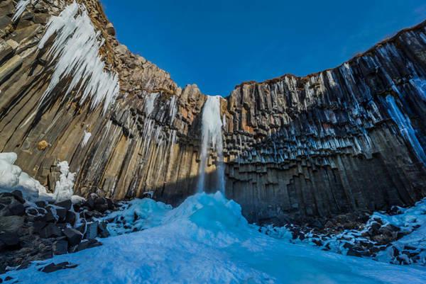 Basalt Columns Photograph - Svartifoss Waterfall, Icelandblack Falls by Panoramic Images