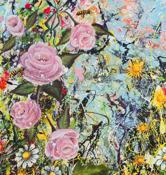 Wall Art - Painting - Sweet Like Honey Detail by Angie Wright