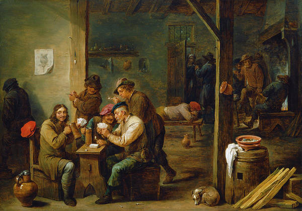 Painting - Tavern Scene by David Teniers the Younger