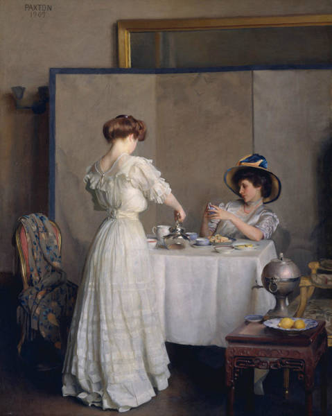 Wall Art - Painting - Tea Leaves by William McGregor Paxton
