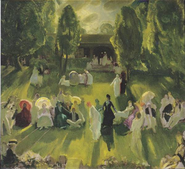 Photograph - Tennis At Newport by George Bellows