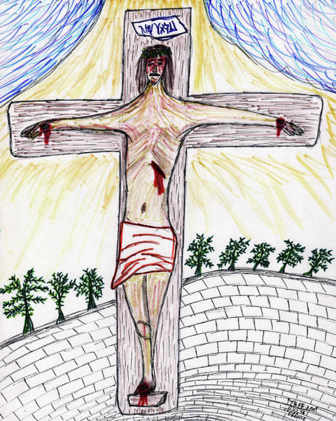 Drawing - Thank  God  For  Good  Friday by Carl Deaville