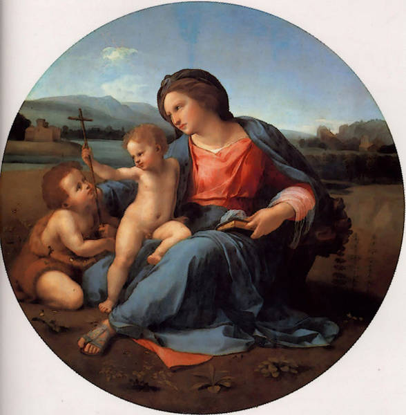 Painting - The Alba Madonna by Raphael