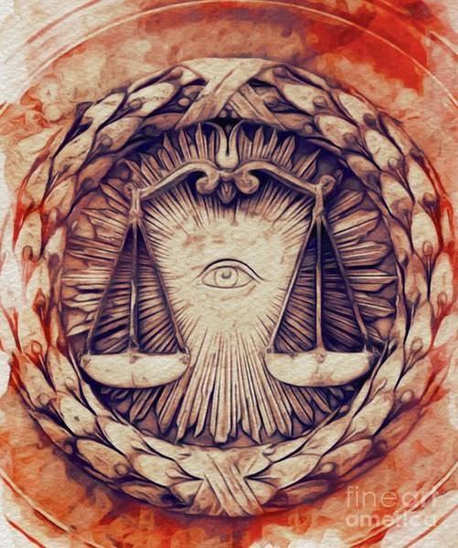 Justice Painting - The All-seeing Eye by Pierre Blanchard
