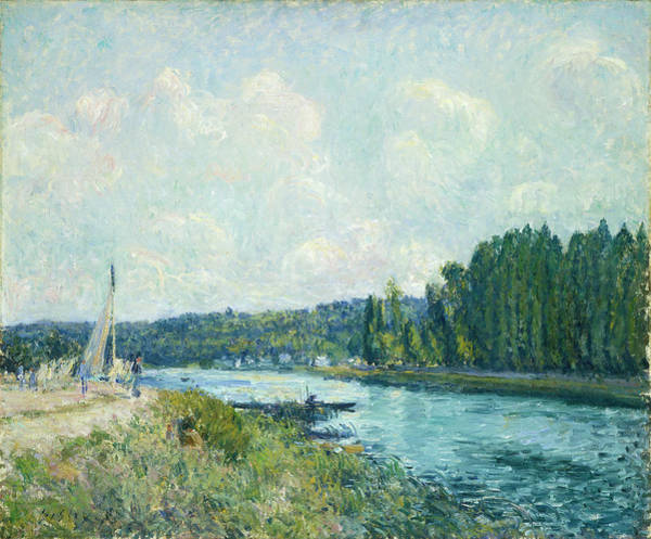 Painting - The Banks Of The Oise by Alfred Sisley