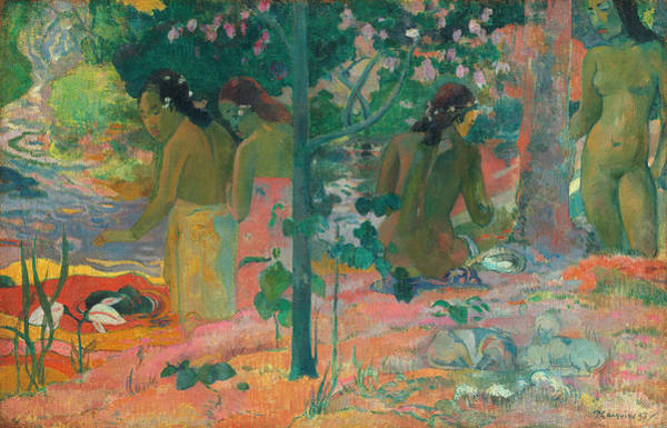 Wall Art - Painting - The Bathers by Paul Gauguin