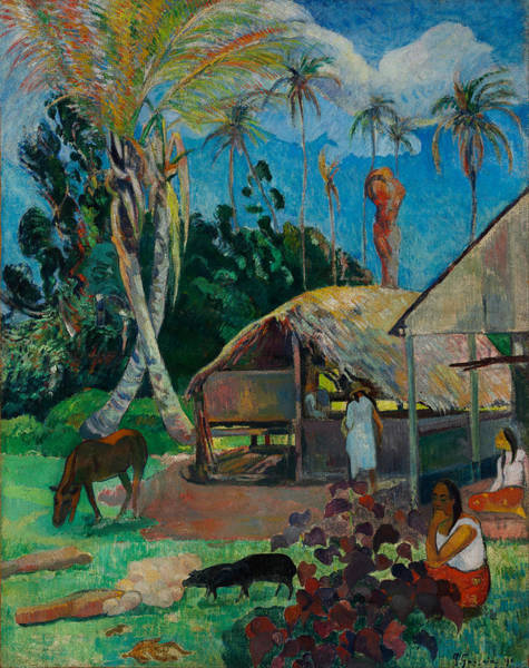 Painting - The Black Pigs by Paul Gauguin