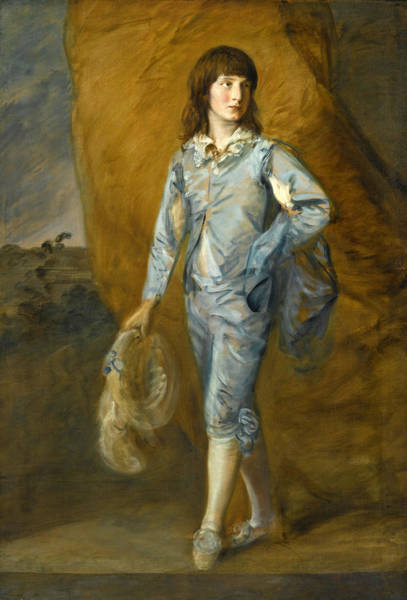 Thomas Gainsborough Wall Art - Painting - The Blue Page by Thomas Gainsborough