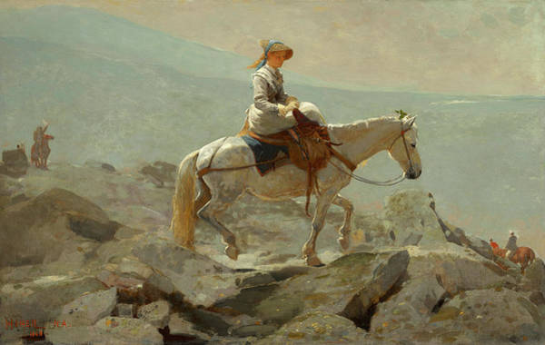 Bridle Wall Art - Painting - The Bridle Path, White Mountains by Winslow Homer