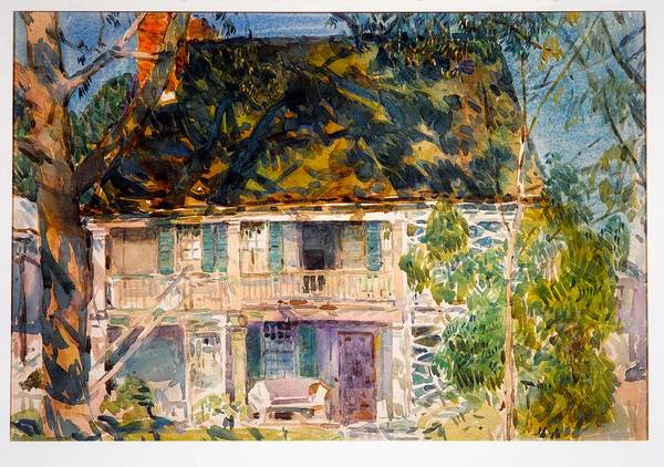 Neighborhood Painting - The Brush House by Mountain Dreams