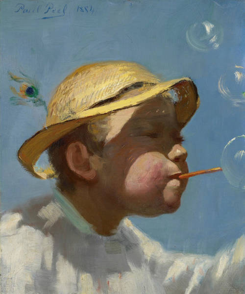 Painting - The Bubble Boy by Paul Peel