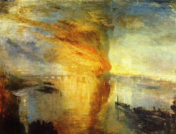 J. M. W. Turner Painting - The Burning Of The Houses Of Parliament by JMW Turner