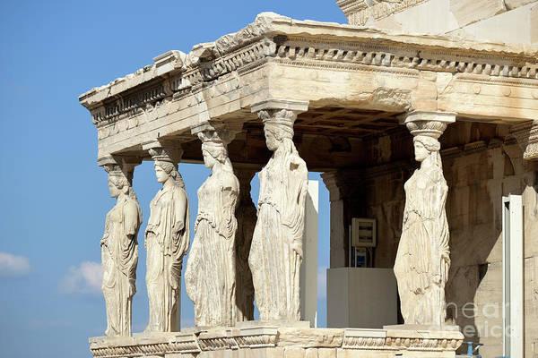 Erechtheion Photograph - The Caryatids Porch by George Atsametakis