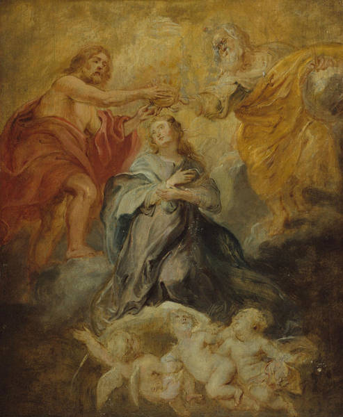 Painting - The Coronation Of The Virgin by Peter Paul Rubens