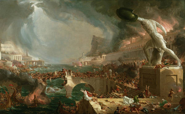 Photograph - The Course Of Empire Destruction by Thomas Cole