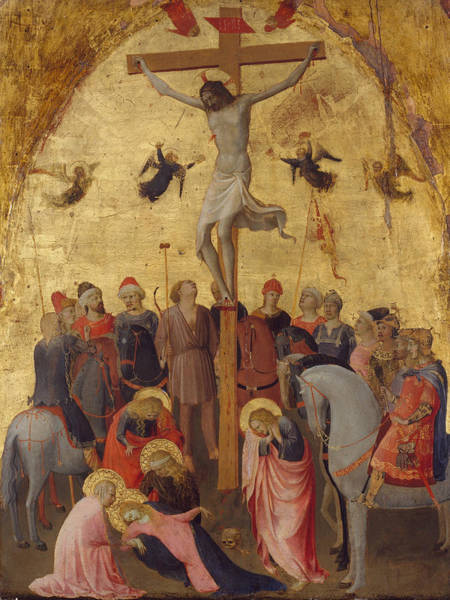 Redeemer Wall Art - Painting - The Crucifixion by Fra Angelico