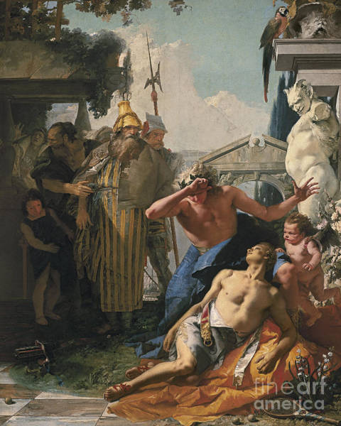 Tragedy Painting - The Death Of Hyacinthus by Giovanni Battista Tiepolo