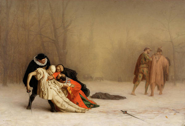 Honor Painting - The Duel After The Masquerade by Jean-Leon Gerome